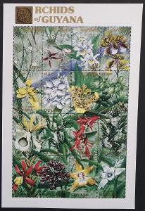 Guyana 1990 Mi.3338-3 18€ Orchideje Jižní Ameriky, flora