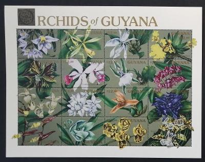 Guyana 1990 Mi.3354-9 18€ Orchideje Jižní Ameriky, flora