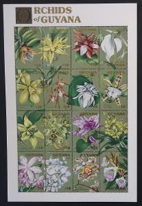 Guyana 1990 Mi.3306-1 12€ Orchideje Jižní Ameriky, flora