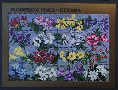 Guyana 1990 Mi.3373-8 13€ Květiny Jižní Ameriky, flora