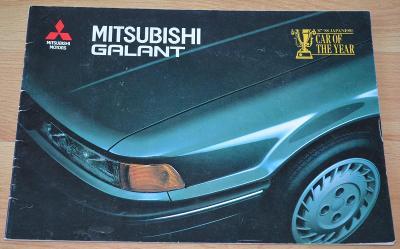 MITSUBISHI GALANT - DOBOVÝ ORIGINÁLNÍ PROSPEKT A4 (1988)