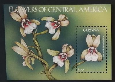 Guyana 2000 Bl.684 7€ Orchideje, květina a flora