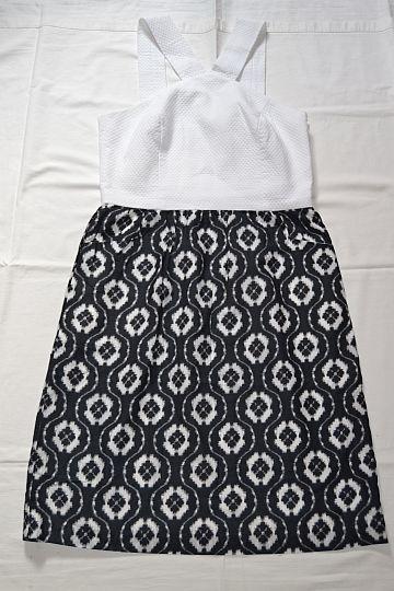 Černobílé vzorované šaty s kapsami J. McLaughlin, vel. S/M