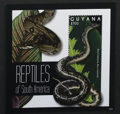 Guyana 2012 Bl.849 7,5€ Plazi Jižní Ameriky, hadi
