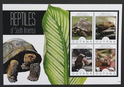 Guyana 2012 Mi.8290-3 10,5€ Plazi Jižní Ameriky, želvy