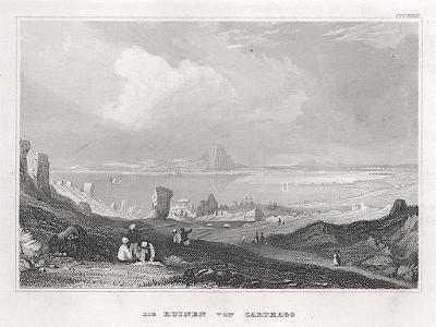 Kartágo, Meyer, oceloryt, 1850