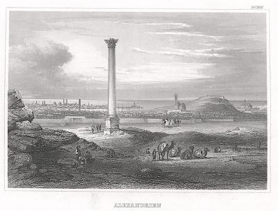 Alexandrie sloup, Meyer, oceloryt, 1850