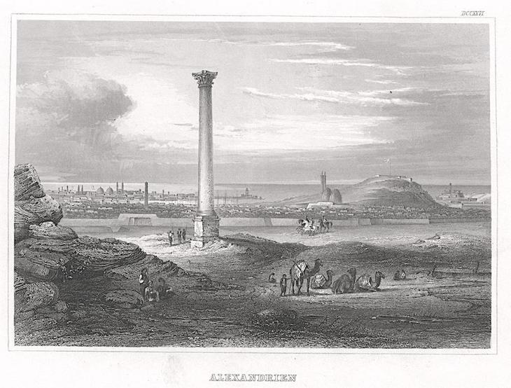 Alexandrie sloup, Meyer, oceloryt, 1850 - Antikvariát