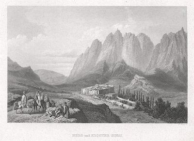 Sinaj klášter, Meyer, oceloryt, 1850