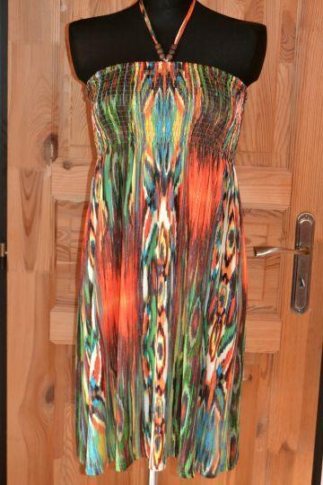 Pěkné vzorované šaty JiaYingBao, vel. S/M