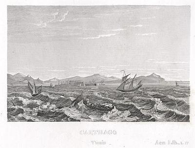 Kartágo, oceloryt, (1840)