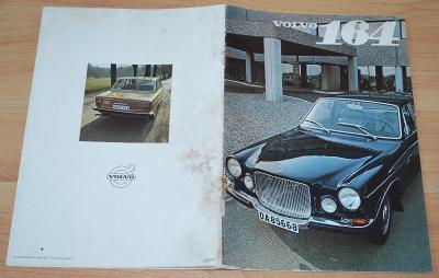 VOLVO 164 - DOBOVÝ ORIGINÁLNÍ PROSPEKT A4 (1969)