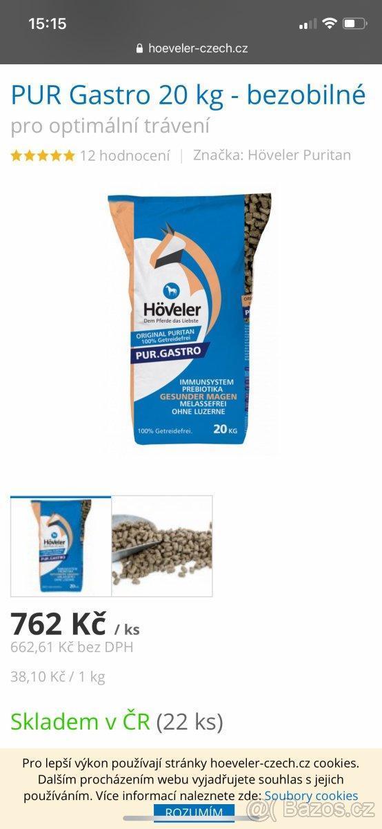 Granule Höveler Gastro - Zvířata