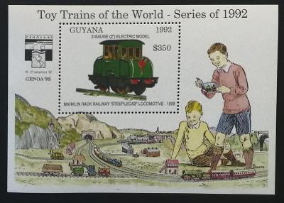 Guyana 1992 Bl.212 9,5€ Dětské vláčky, modely lokomotiv
