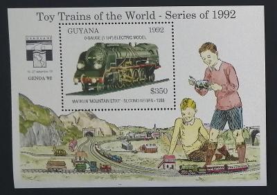Guyana 1992 Bl.214 9,5€ Dětské vláčky, modely lokomotiv