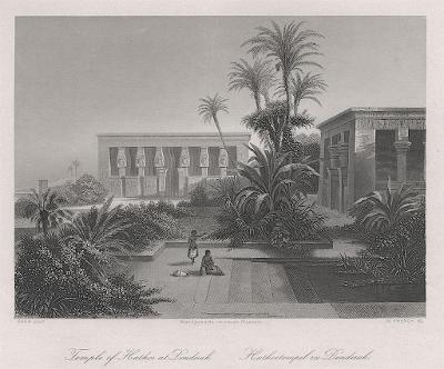 Denderah, Payne, oceloryt 1860