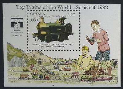 Guyana 1992 Bl.210 9,5€ Dětské vláčky, modely lokomotiv