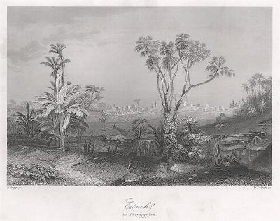 Esneh, Payne, oceloryt 1860