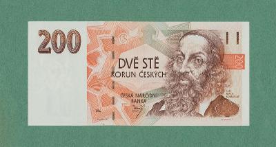 💎 200 korun, 1996   -  serie B 18  -   špičkový stav UNC 💎