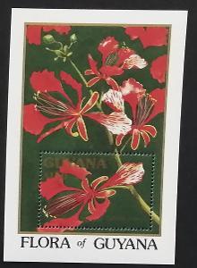 Guyana 1990 Bl.115 14€ Kvetoucí stromy, Delonix regia