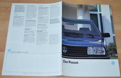 VOLKSWAGEN PASSAT - DOBOVÝ ORIGINÁLNÍ PROSPEKT A4 (1/1987)