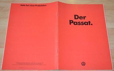 VOLKSWAGEN PASSAT - DOBOVÝ ORIGINÁLNÍ PROSPEKT A4 (1/1974)