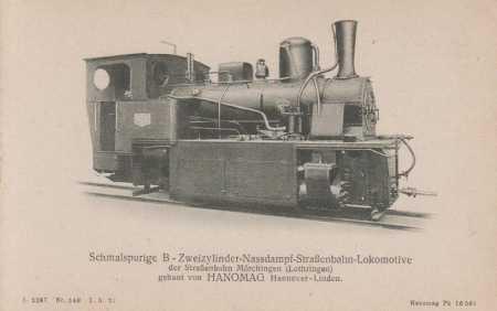 Úzkorozchodná lokomotiva- tramvaj (Hanomag)