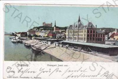 Bratislava(Pozsony), část města, přístav, lodě, pa