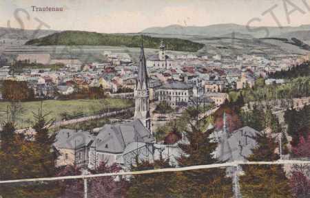 Trutnov, pohled na město z výšky