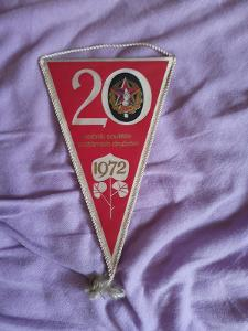 Vlaječka ČSPO 20 ročník soutěže požárních družstev 1972