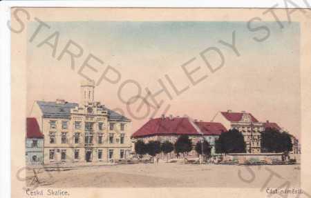 Česká Skalice, část náměstí s radnicí