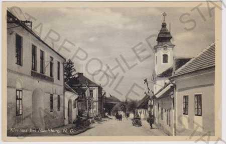 Klentnice (Klentnitz) - ulice - kostel, auto, host