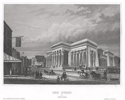 New York Tombs, Meyer, oceloryt, 1850