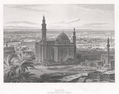 Kahira Cairo II., Meyer, oceloryt, 1860