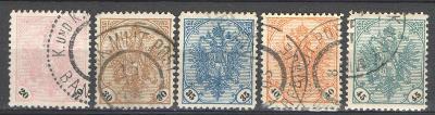 BOSNA a HERZEGOVINA - 1900-1904 - AFA 24 - 28 - 5 ks ražených známek