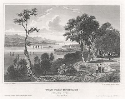Hyde Park, New York, Meyer, oceloryt, 1850