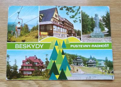 Pohled  Beskydy