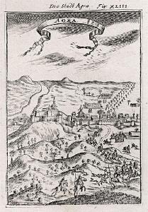 Agra , Mallet, mědiryt, 1719