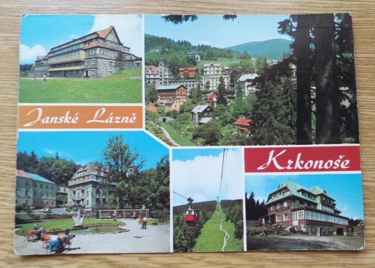 Pohled  Krkonoše - Jánské lázně - Pohlednice