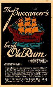 Stará etiketa rum Pučelík Jirny malá
