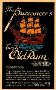Stará etiketa rum Pučelík Jirny velká
