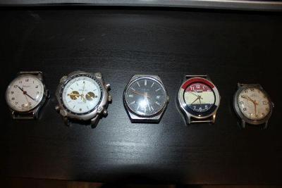 konvolut pánských náramkových hodinek různé značky
