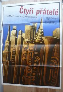 Čtyři přátelé (filmový plakát, film USA 1981, režie