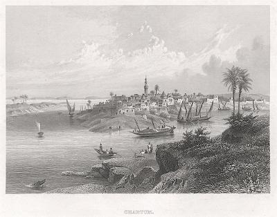 Chartum, oceloryt, (1850)