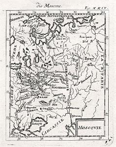 Rusko Moscovie, Mallet, mědiryt, 1719