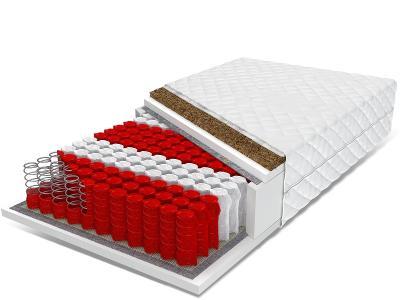 Kapesní pružinová matrace s kokosem 160x200 NATURAL MAX