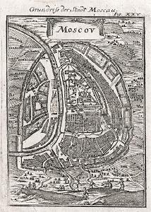 Moskva plán, Mallet, mědiryt, 1719
