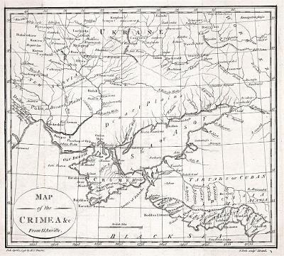 Krym, Anville, mědiryt, 1793
