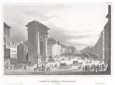 Paris St. Denis, Meyer, oceloryt, 1850