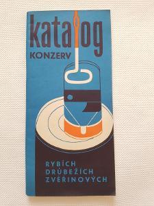 Starý reklamní katalog konzerv recepty konzervy Socialismus Rybena atd